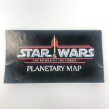 Vintage Kenner Star Wars Paper POTF Planetary Map - Endor (1984)