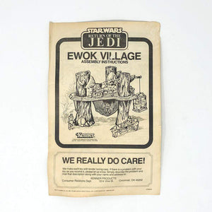 Vintage Kenner Star Wars Paper ROTJ Ewok Village Instructions