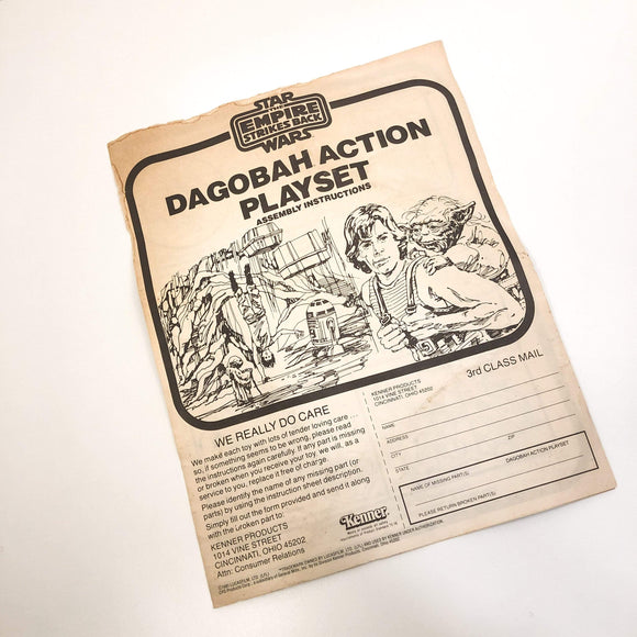 Vintage Kenner Star Wars Toy Dagobah Action Playset Instructions - C4
