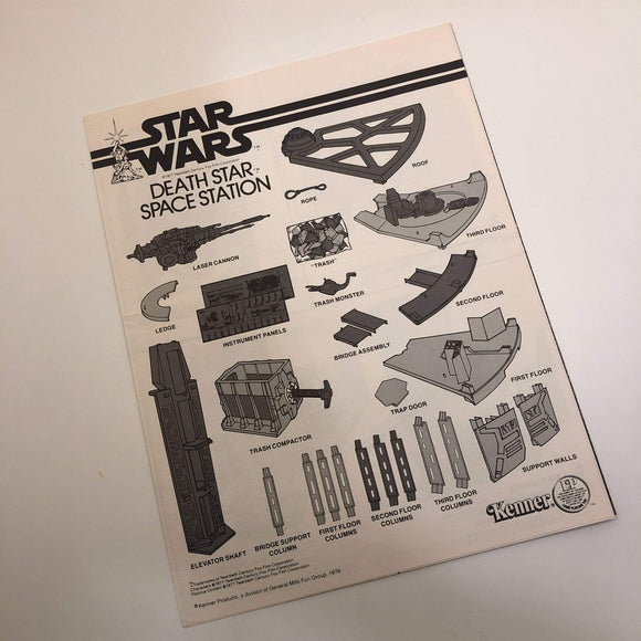 Vintage Kenner Star Wars Toy Death Star Space Station Instructions - C9