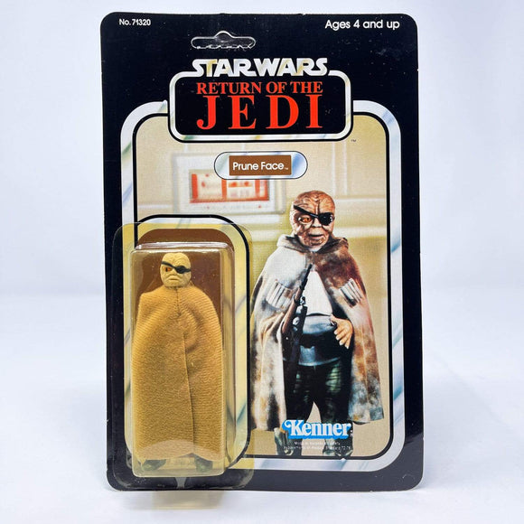 Vintage Kenner Star Wars Toy Prune Face 77a-back - Mint on Card