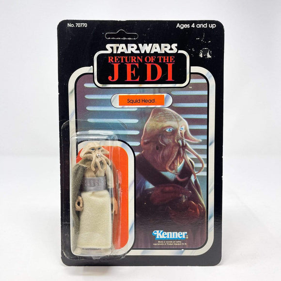 Vintage Kenner Star Wars Toy Squidhead 77a-back - Mint on Card