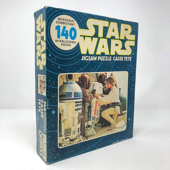 Vintage Parker Brothers Star Wars Toy Star Wars  Puzzle - Luke and Jawas 140 Piece Canadian