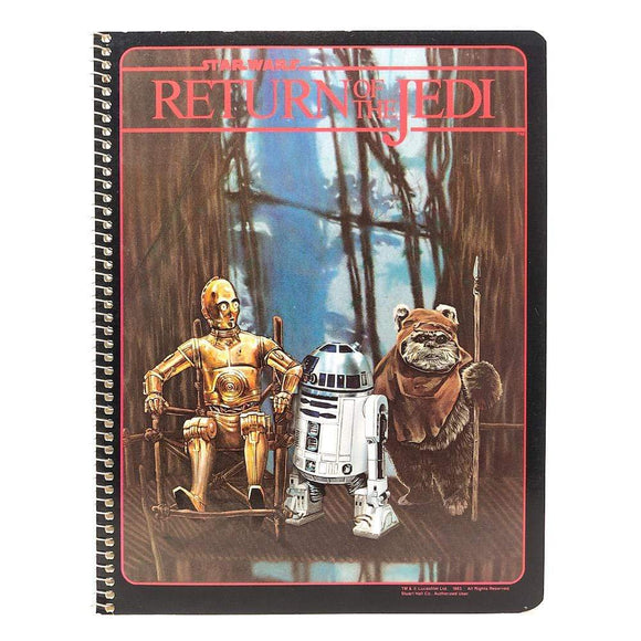 Vintage Randim Marketing Star Wars Non-Toy ROTJ Endor Spiral Notebook - Unused