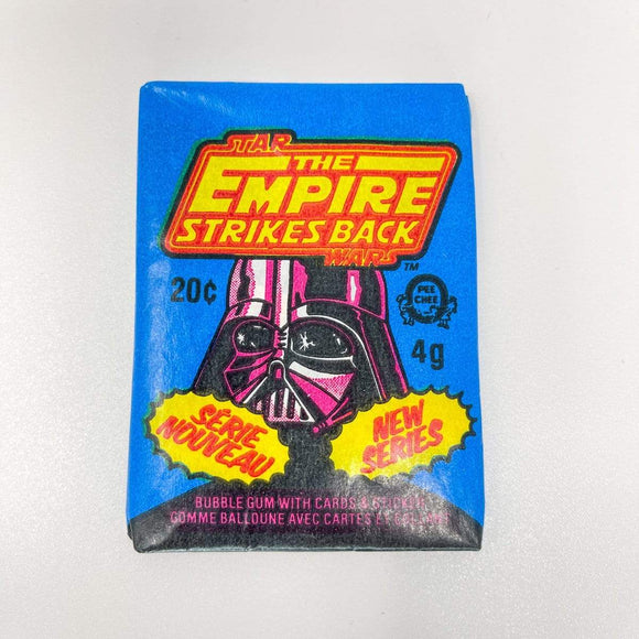 Vintage Topps Star Wars Trading Cards OPC Empire Strikes Back Sealed Wax Pack - Series 2