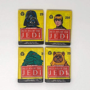 Vintage Topps Star Wars Trading Cards OPC Return of the Jedi Series 1 - Set of 4 Sealed Packs