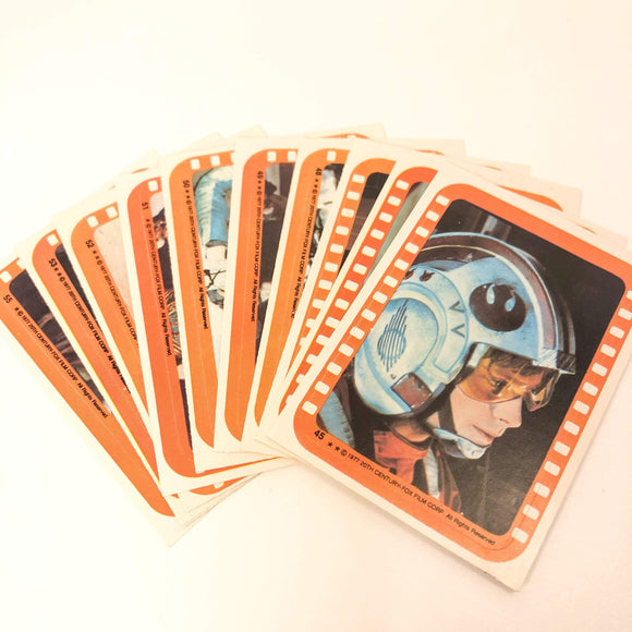 Vintage Topps Star Wars Trading Cards Star Wars Series 5 Sticker Set Topps
