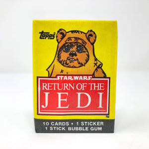 Vintage Topps Star Wars Trading Cards Topps Return of the Jedi Series 1 SEALED Pack - Wicket
