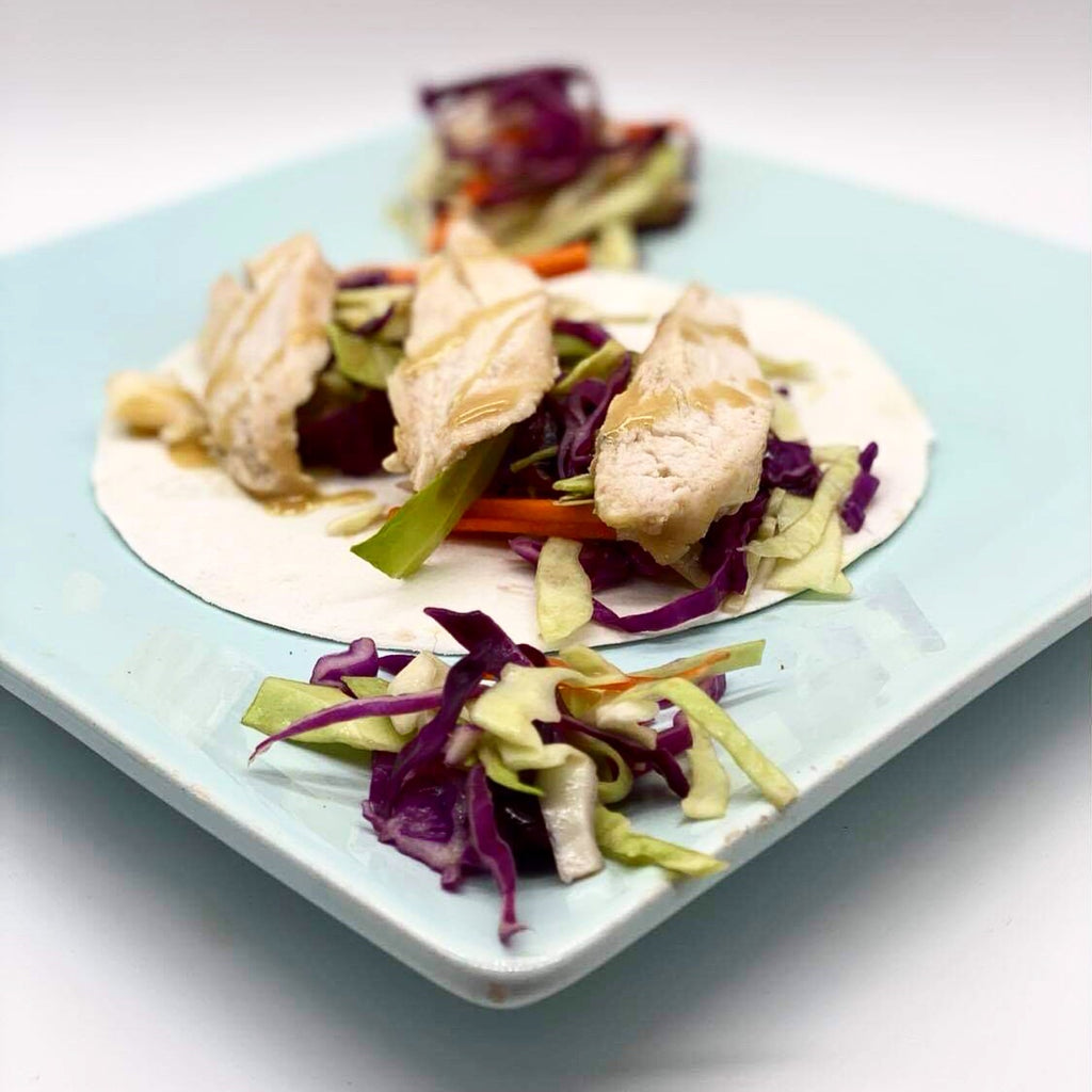 Colorful Coleslaw Chicken Tacos