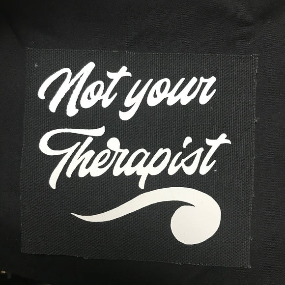 Therapist Patch Black