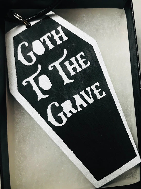 Goth to the Grave Pendant with Necklace
