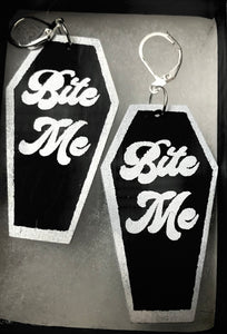 Bite Me Coffin Earrings