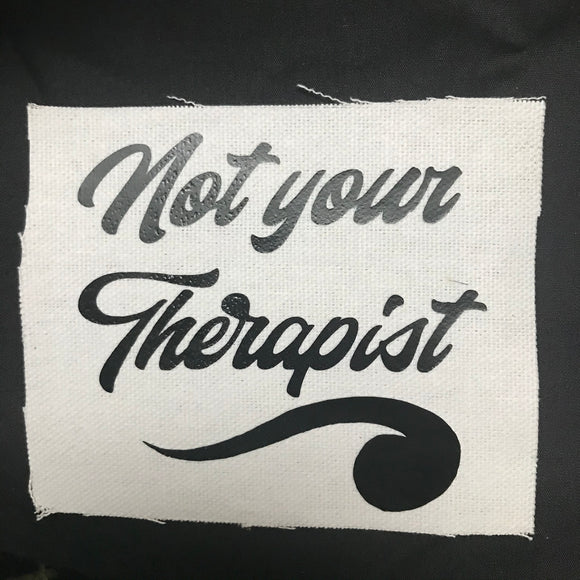 Therapist Patch Iron-on White