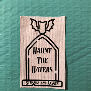 Haunt The Haters Iron-on Patch (White)