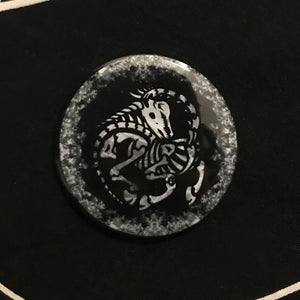 The Found Unicorn SRSA Pin (Black and White)