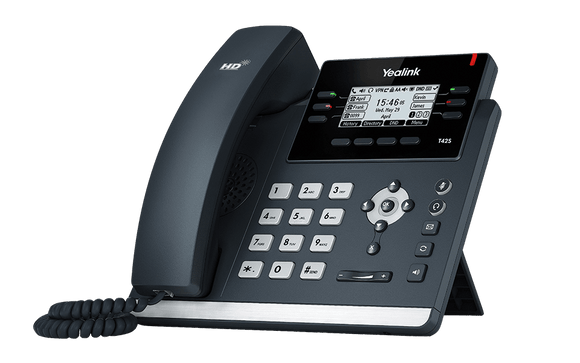 Yealink T42S IP Phone, 12 Lines. 2.7-Inch Graphical Display. Dual-Port Gigabit Ethernet, 802.3af PoE, SIP-T42S