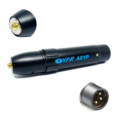 YPA A61P MicroDot to XLR In-Line Microphone Preamp for Shure TL47, TH53, TL48 dpa mic