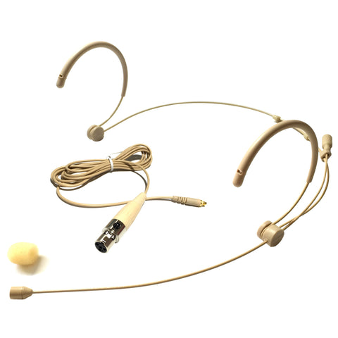 Microdot 4016 Headset Headworn Microphone - Detachable Cable  - Omidirectional Mic