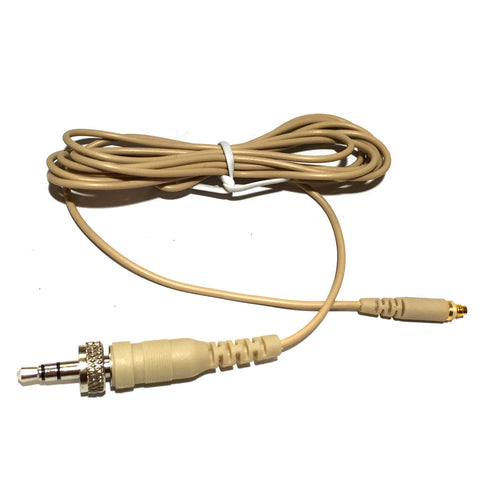 Microdot AC4016SRL Detachable Cable With 3.5mm Screw Locking Jack Plug Connector for 4016 Headset Headworn Microphone - Sennheiser Wireless