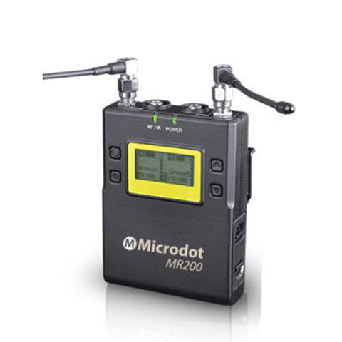 MICRODOT MR200 2-Channel Portable Receiver for M200 Systems