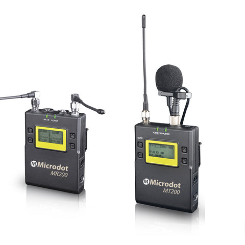 MICRODOT M200 Camera-Mount Wireless Uni Lavalier Microphone System