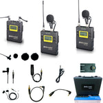 MICRODOT M200 2-Person Camera-Mount Wireless Omni Lavalier Microphone System