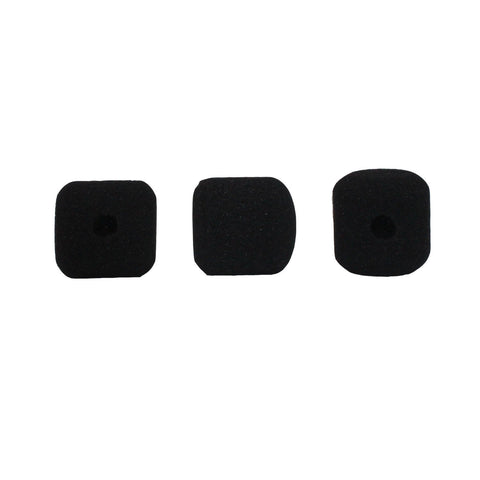 YPA MMW3 Foam Windshields FOR gooseneck Instrument Microphone 3 Pack (Black)