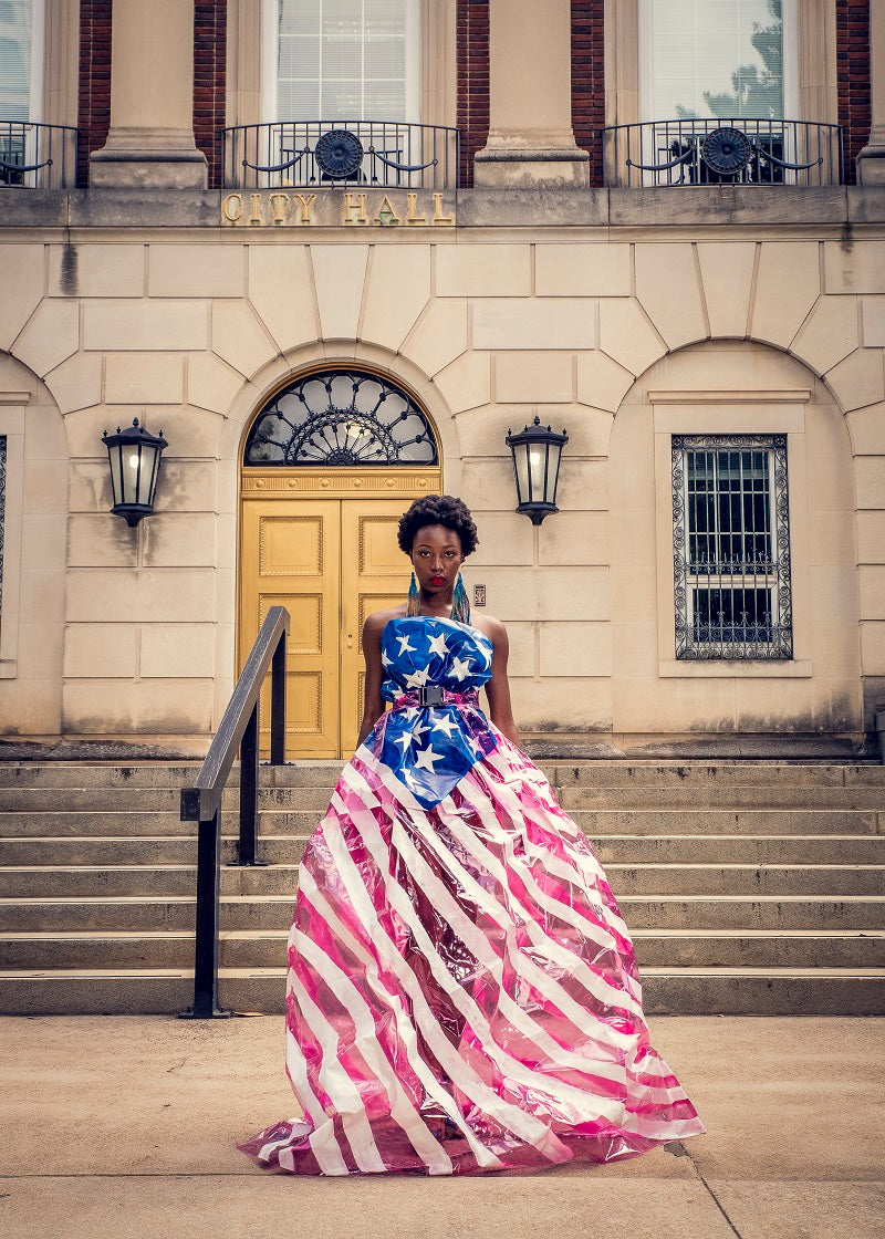 The American Flag Vinyl Dress