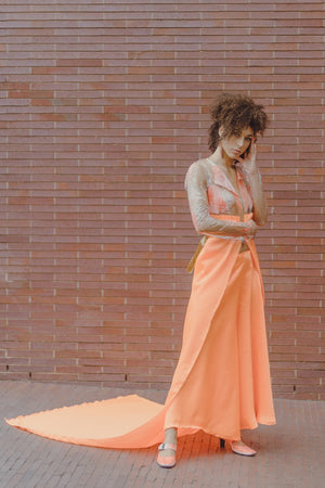 Clear Vinyl Orange Blazer and Pants set