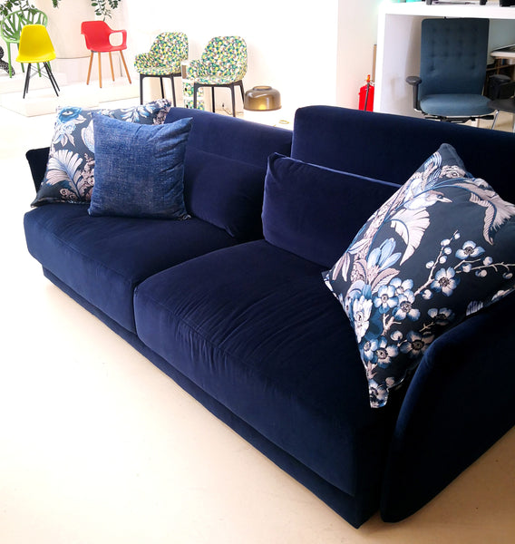 Sofá UP Sancal Blue Velvet - Empatias