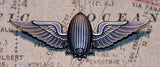 "Nickel Airship Wing Pin - 3"" wide"