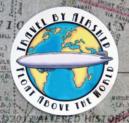 Airship Travel Vinyl Sticker