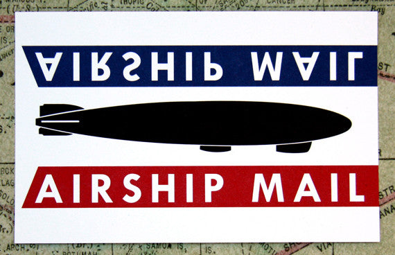 Airship Mail #1 Vintage Style Post Card