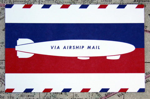 Airship Mail #2 Vintage Style Post Card