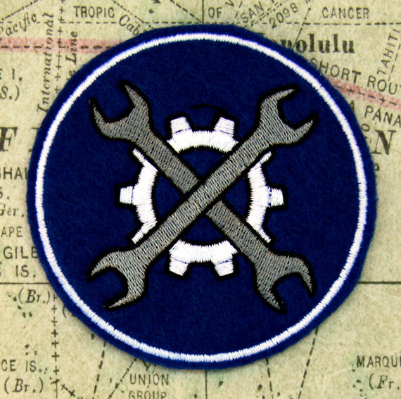Mechanic's Badge Wool Felt Patch
