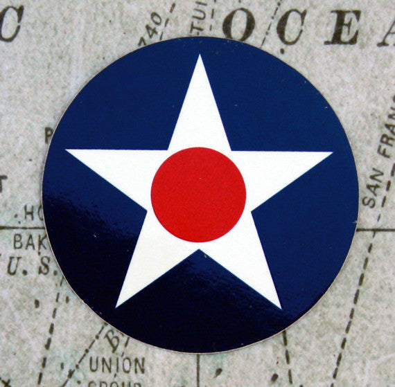 United States Star/Dot Aircraft Roundel Vinyl Sticker