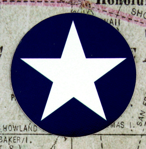 United States Star Aircraft Roundel Vinyl Sticker