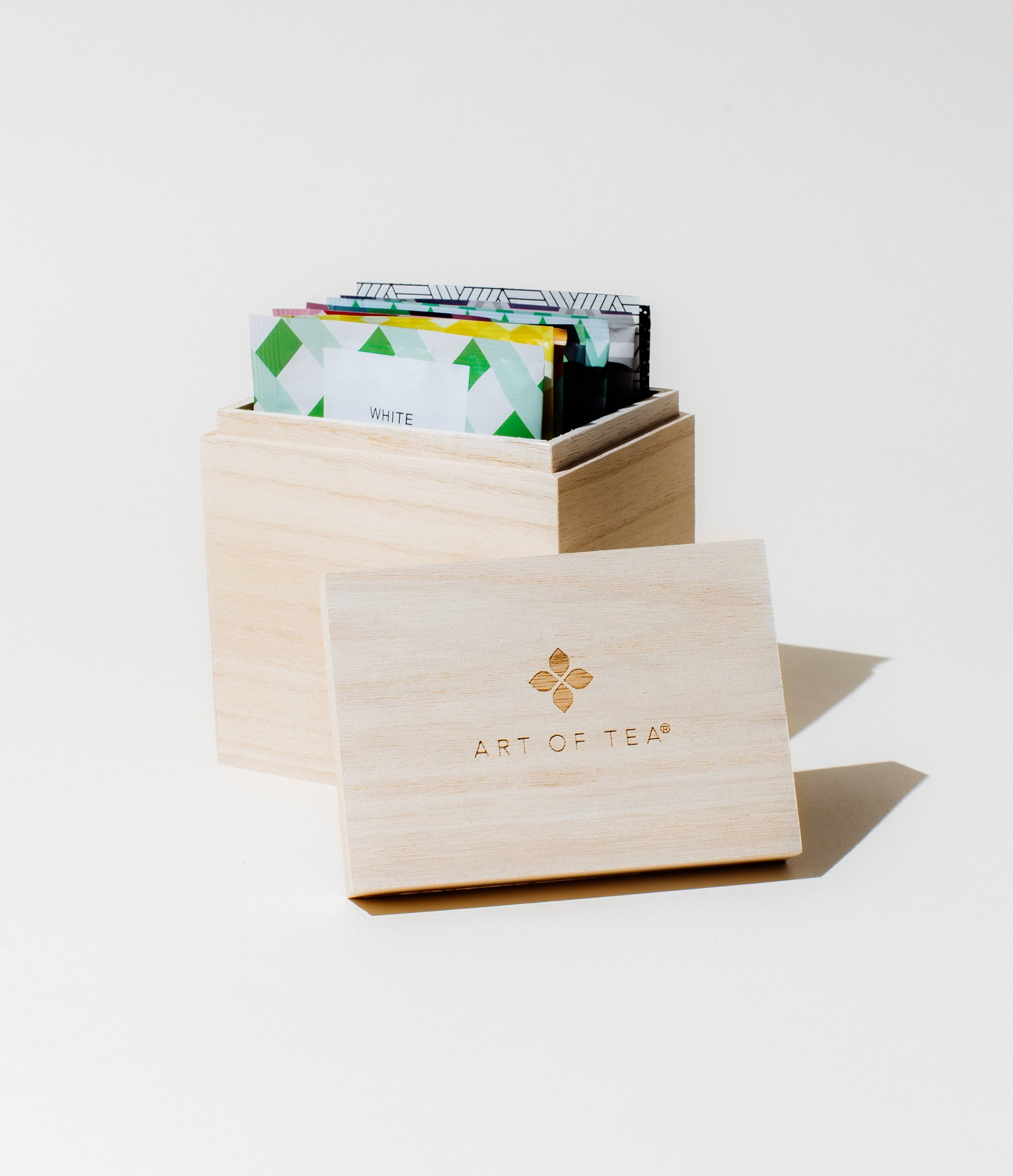 Branded Wood Box Teabags Packaged Teas by Art of Tea
