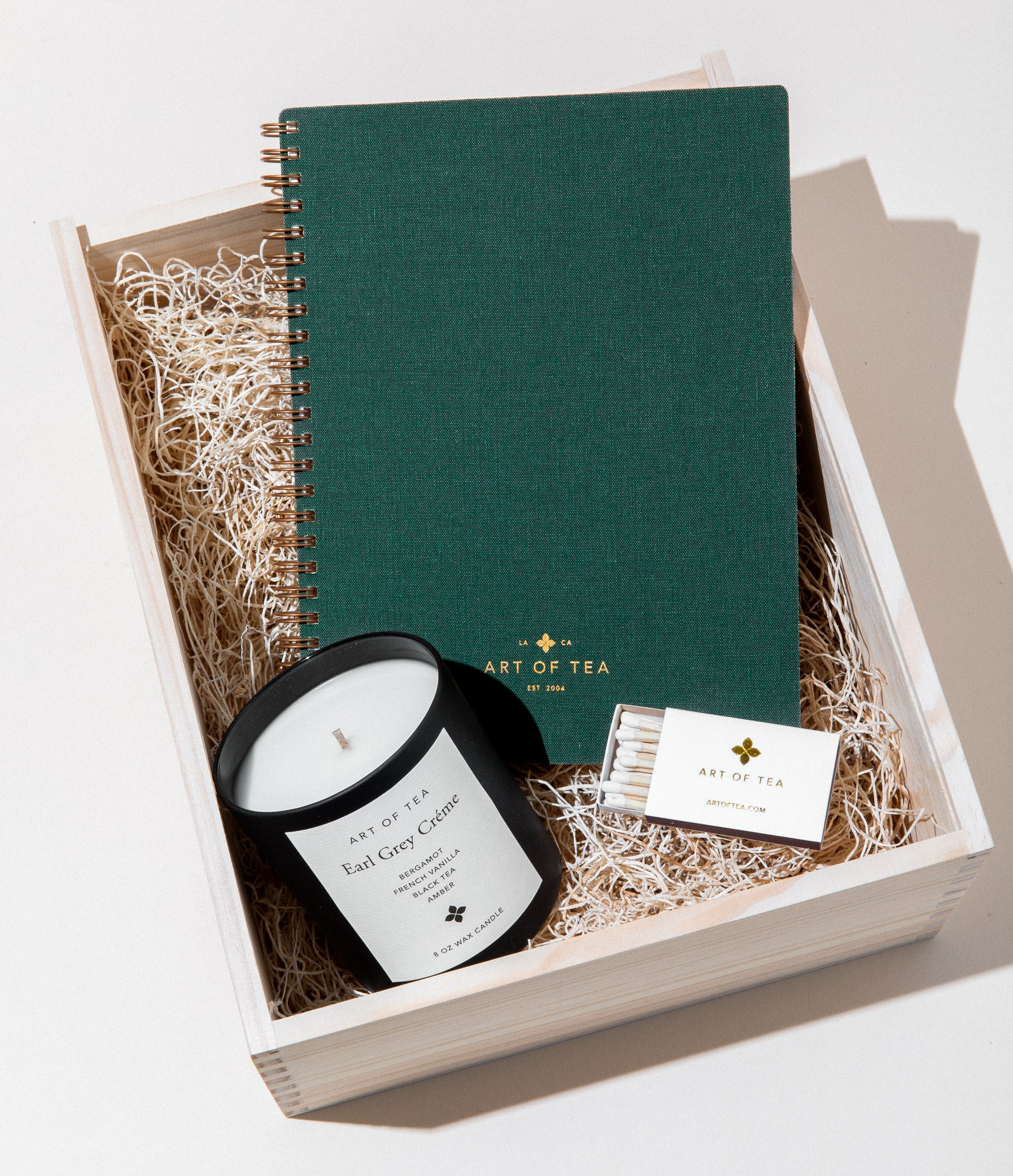 Candle, Matches, & Journal Gift Box Set Tea Gifts by Art of Tea