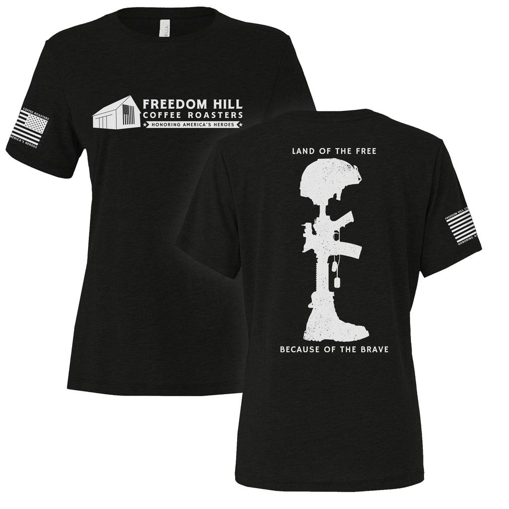BATTLEFIELD CROSS WOMEN'S TEE - BLACK