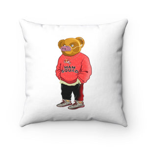 HamSquad Bear Square Pillow