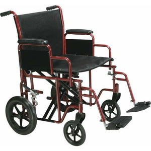 Drive Medical BTR-22 Bariatric Steel Transport Chair