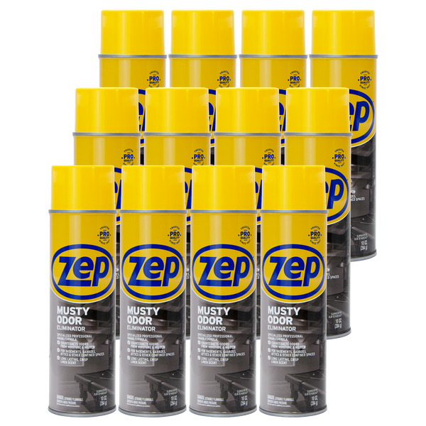 Zep Musty Odor Eliminator 10 oz. (Case of 12) Neutralizes Odors From Mold & Mildew