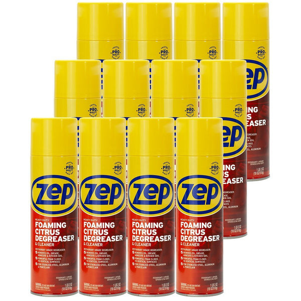 Zep Heavy-Duty Foaming Degreaser ZUHFD18 (Case of 12)