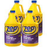 Zep Stain Resistant Floor Sealer 128 oz. (Case of 4) Enhances Longevity and Stain Resistance