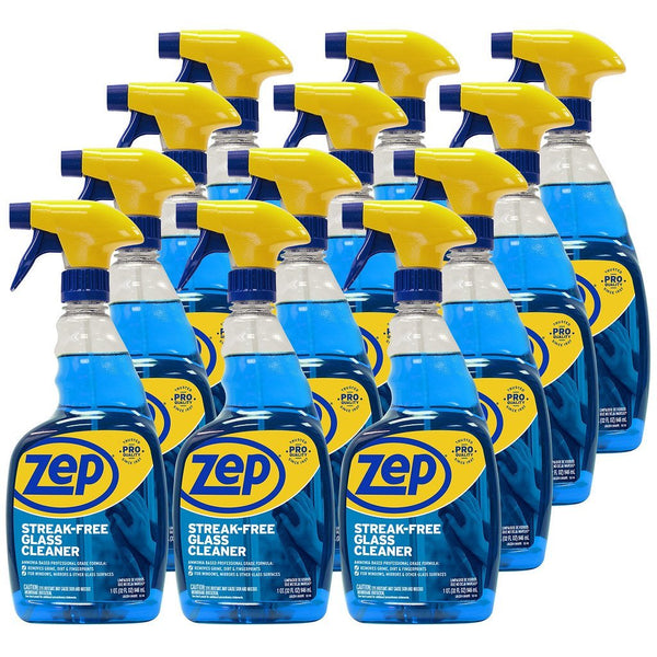 Zep Streak-Free Glass Cleaner 32 oz. (Case of 12) Just Spray & Wipe!