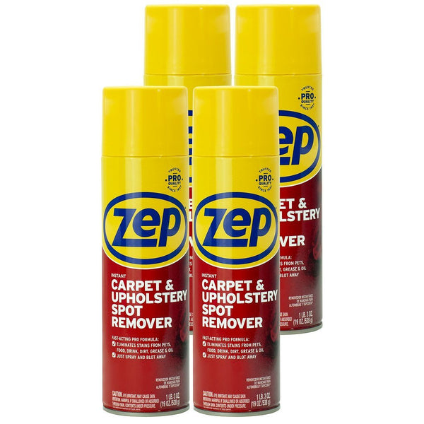 Zep Instant Carpet and Upholstery Spot Remover 19 oz. (Case of 4)