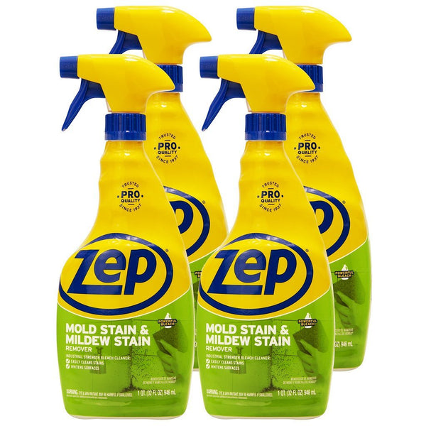 Zep Mold Stain and Mildew Stain Remover 32 oz. (Case of 4) Dissolves Mold and Mildew!