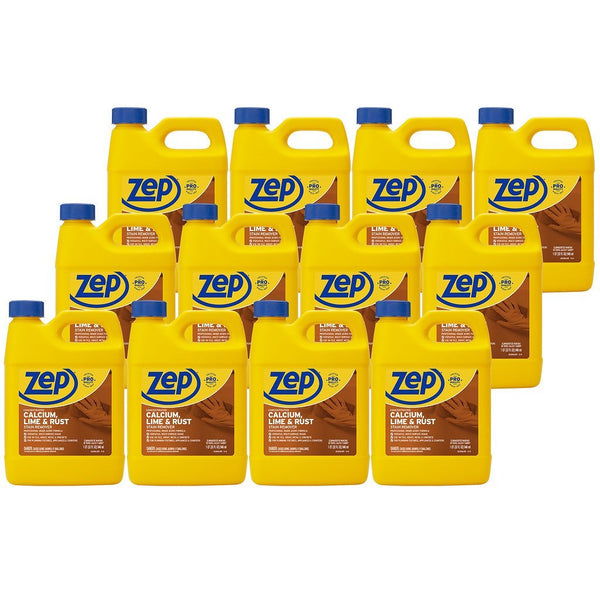 Zep Calcium, Lime and Rust Remover 32 oz. (Case of 12) Dissolves Rust and Hard Water Stains FAST!