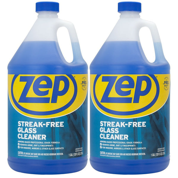 Zep Streak-Free Glass Cleaner 128 oz. (Pack of 2) Just Spray & Wipe!
